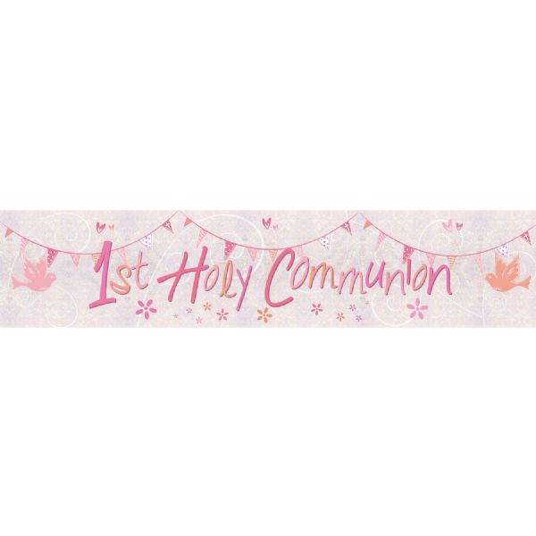 Communion Church Pink - Foil Banner